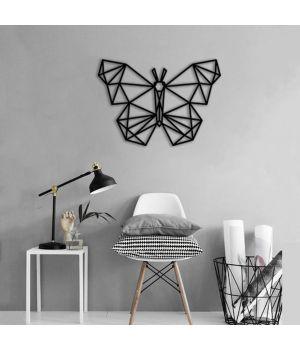 60x43 см, объемная 3D картина из дерева Butterfly