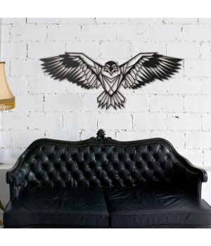 87x35 см, объемная 3D картина из дерева Парящий орел