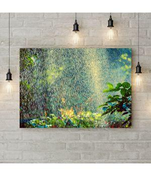 Картина на холсте Лес под дождем, 50х35 см