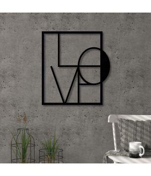 90x97 см, объемная 3D картина из дерева Love square