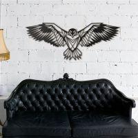 112x45 см, объемная 3D картина из дерева Парящий орел