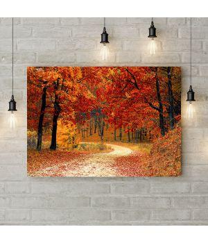 Картина на холсте Краски осени в лесу, 50х35 см