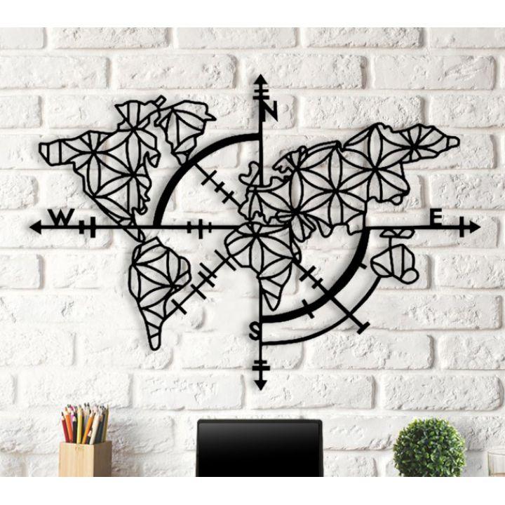 Объемная 3D картина из дерева Карта-компас DC1605230, 70х100 см
