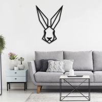 30x43 см, объемная 3D картина из дерева Кролик