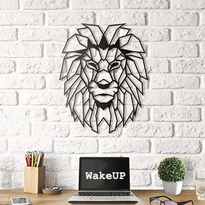 Объемная 3D картина из дерева Объемная 3D картина из дерева Лев царь зверей, 41x52 см