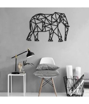 Об'ємна 3D картина з дерева Объемная 3D картина из дерева Слон, 40x40 см