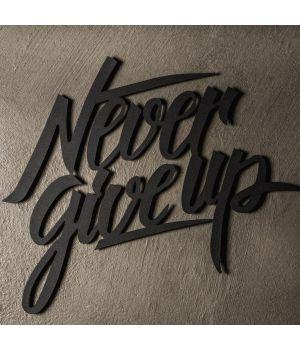 50x43 см, объемная 3D картина из дерева Never give up