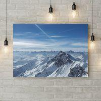 Картина на холсте Заснеженный горный хребет, 50х35 см
