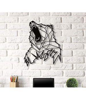 Объемная 3D картина из дерева Медведь DC1605241, 55х62 см