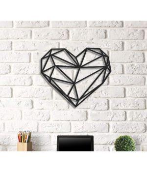 Об'ємна 3D картина з дерева Серце DC1605251, 40х46 см