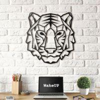 90x92 см, объемная 3D картина из дерева Tiger Face