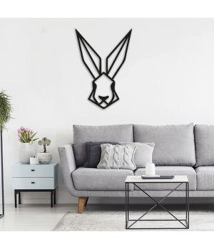50x71 см, объемная 3D картина из дерева Кролик