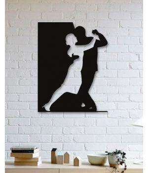 80x102 см, объемная 3D картина из дерева Танцующая пара