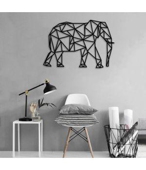 50x35 см, объемная 3D картина из дерева Слон