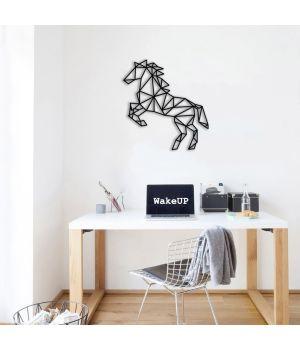 40x43 см, объемная 3D картина из дерева Лошадь