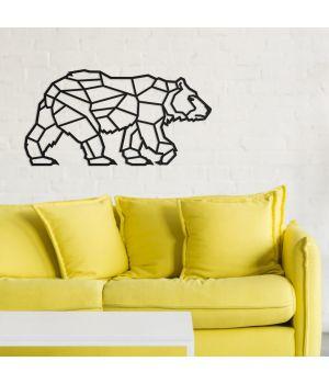 100x52 см, объемная 3D картина из дерева Полярный медведь
