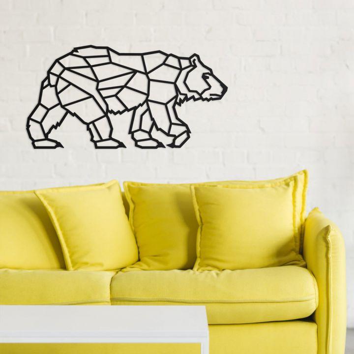 Объемная 3D картина из дерева Объемная 3D картина из дерева Полярный медведь, 100x52 см