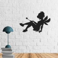 50x35 см, объемная 3D картина из дерева Маленькая фея