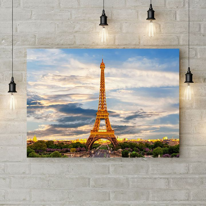 Картина на холсте Вид на Эйфелеву башню, 50х35 см