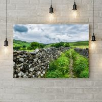 Картина на холсте Каменная изгородь, 50х35 см