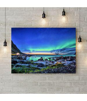 Картина на холсте Северное сияние, 50х35 см