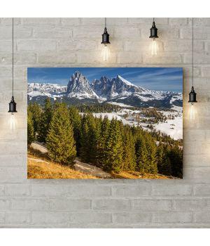 Картина на холсте Заснежинные горы, 50х35 см
