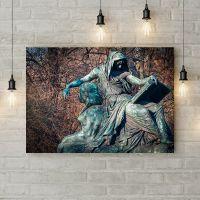 Картина на холсте Бронзовая скульптура, 50х35 см