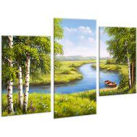 Красивая комнатная модульная картина на холсте AMD 134, 96х70 см
