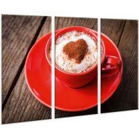 Красивая комнатная модульная картина на холсте Coffee AMD 054, 96х70 см