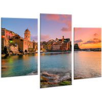 Красивая комнатная модульная картина на холсте City AMD 117, 96х70 см