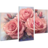 Красива кімнатна модульна картина на полотні Rose AMD 118, 96х70 см