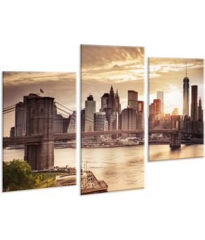 Красивая комнатная модульная картина на холсте Bridge AMD 110, 96х70 см