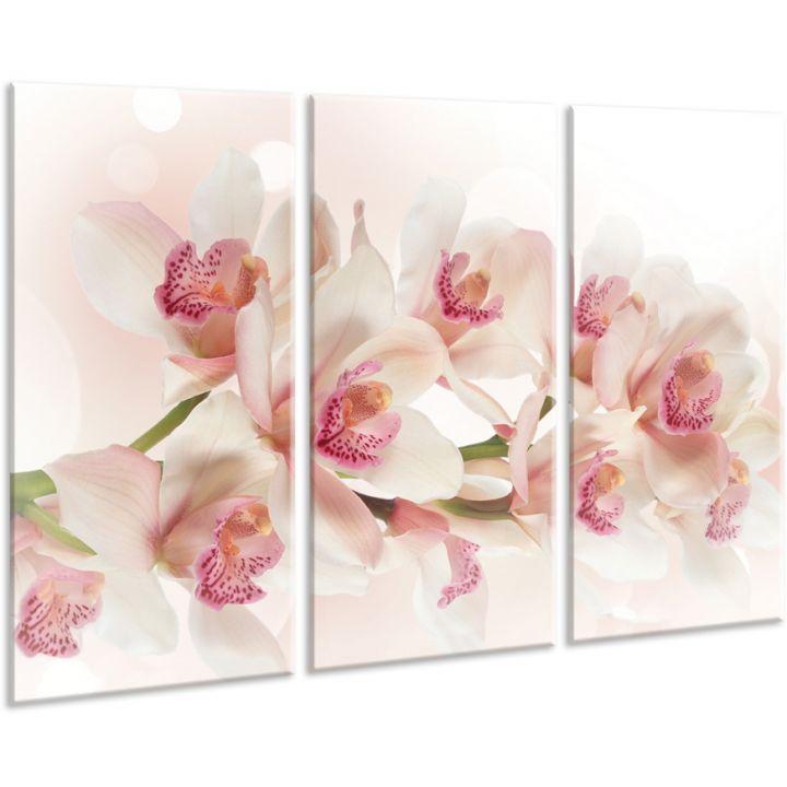 Красивая комнатная модульная картина на холсте Orchid AMD 097, 96х70 см