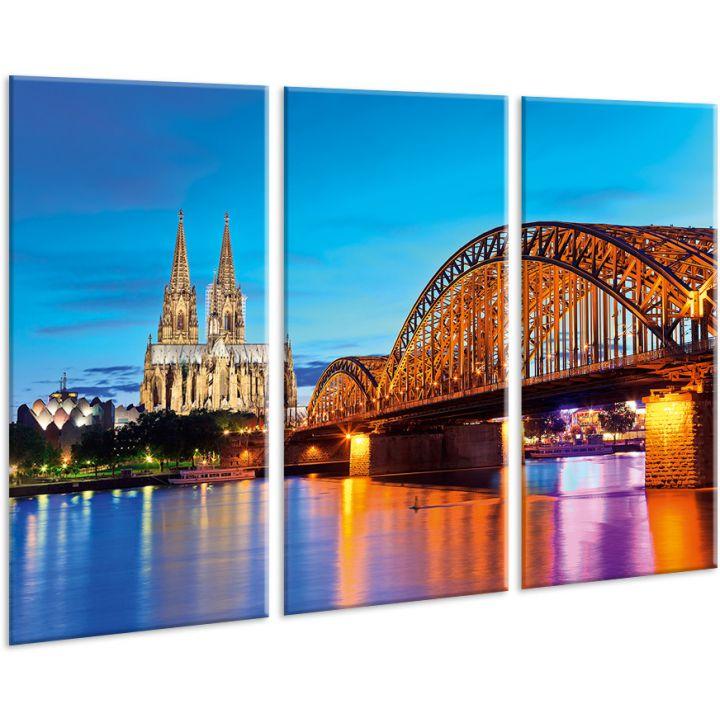Красивая комнатная модульная картина на холсте City AMD 023, 96х70 см