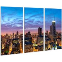 Красива кімнатна модульна картина на полотні Town AMD 112, 96х70 см