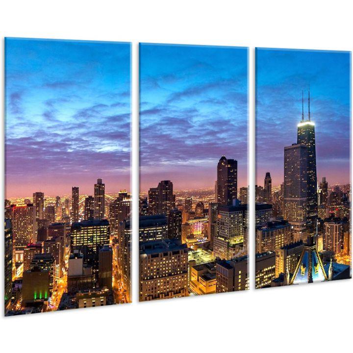 Красивая комнатная модульная картина на холсте Town AMD 112, 96х70 см