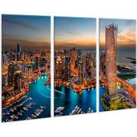 Красива кімнатна модульна картина на полотні City AMD 024, 96х70 см
