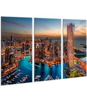 Красивая комнатная модульная картина на холсте City AMD 024, 96х70 см