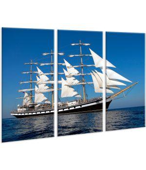 Красивая комнатная модульная картина на холсте Sea AMD 035, 96х70 см