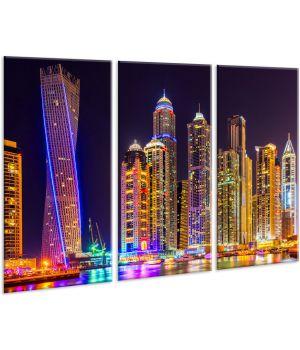 Красивая комнатная модульная картина на холсте Town AMD 113, 96х70 см