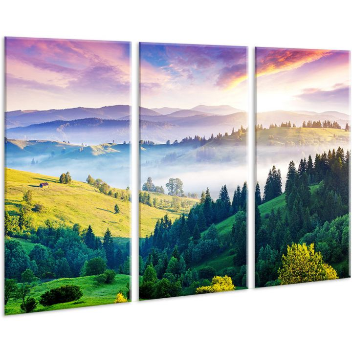 Красивая комнатная модульная картина на холсте AMD 123, 96х70 см