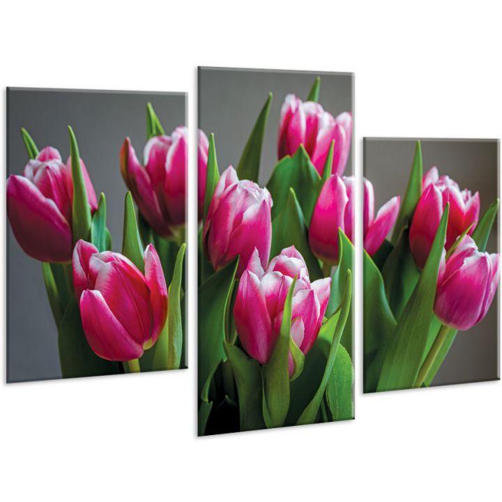 Красивая комнатная модульная картина на холсте Tulip AMD 100, 96х70 см