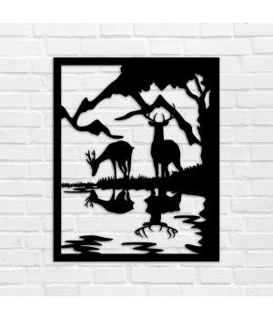 40х32 см, 3Д Картина из дерева, 78107