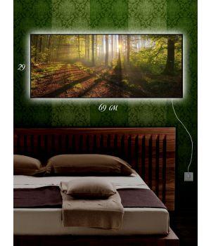 Картина с подсветкой 29х69 Лесные тропинки