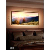 LED Картина Рассвет в горах