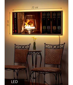 LED Картина Золотая рыбка