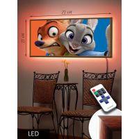 LED Картина Зверополис