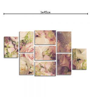 Модульная картина на холсте с принтом Розовые розы