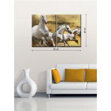 Модульная картина на холсте Бегущие кони