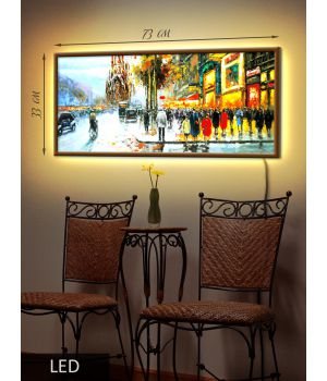 LED Картина Городские будни